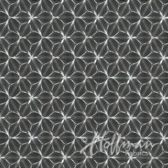 Sparkle and Fade by Hoffman Fabrics - Black/Silver 4416-4s