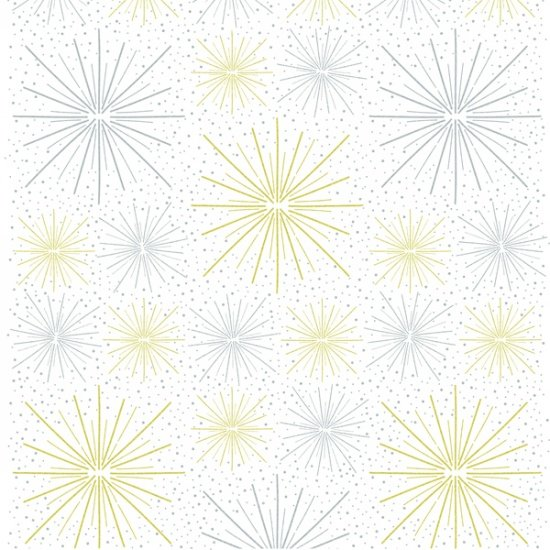 Sparkle and Fade by Hoffman Fabrics - White/Metallic 4472-3m