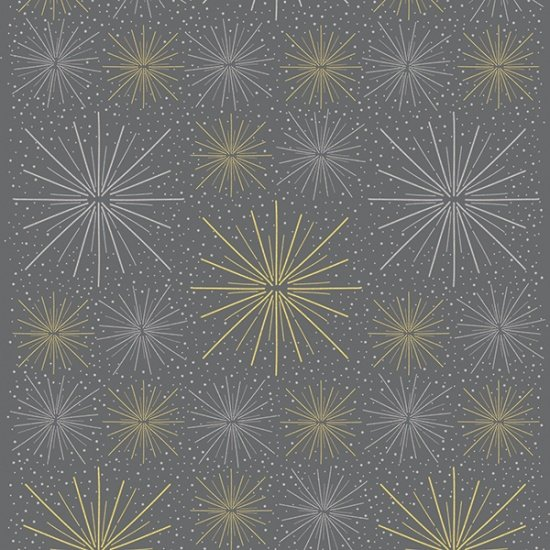 Sparkle and Fade by Hoffman Fabrics - Charcoal/Metallic 4472-55m