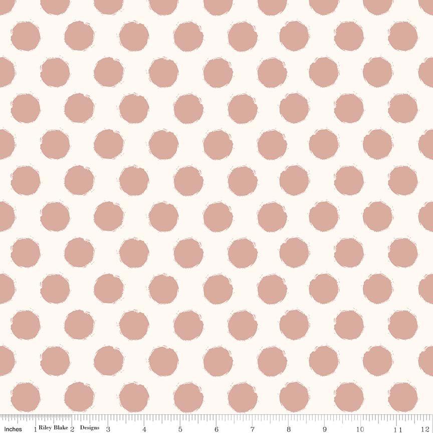 Blush by Riley Blake - Dot Sparkle Cream - c8016cream