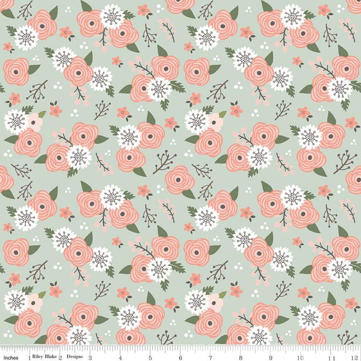 Modern Farmhouse Floral Sage SC9461-Sage