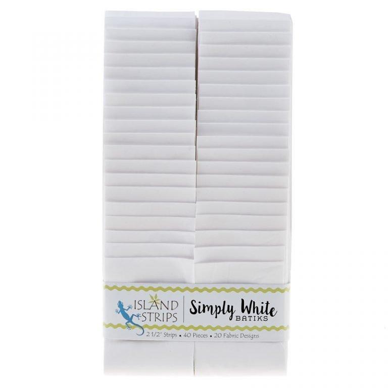 Island Batik 2.5 strips -Simply White