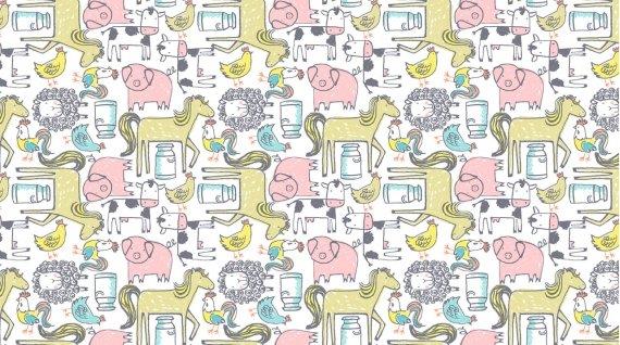 Deja Moo Flannel by Dear Stella - 1024_White
