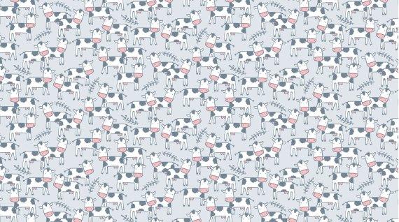 Deja Moo Flannel by Dear Stella - cloud 1026
