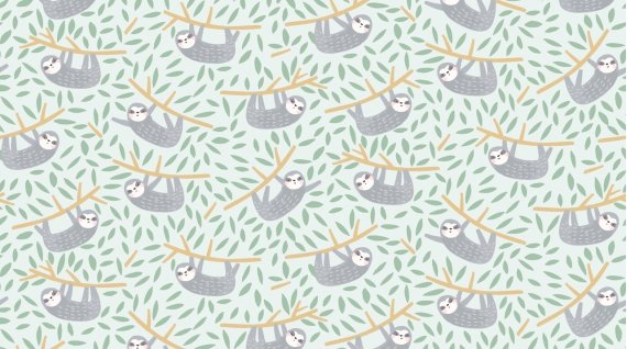 Hanging In There - stella-1215-mist - 3/8 yd