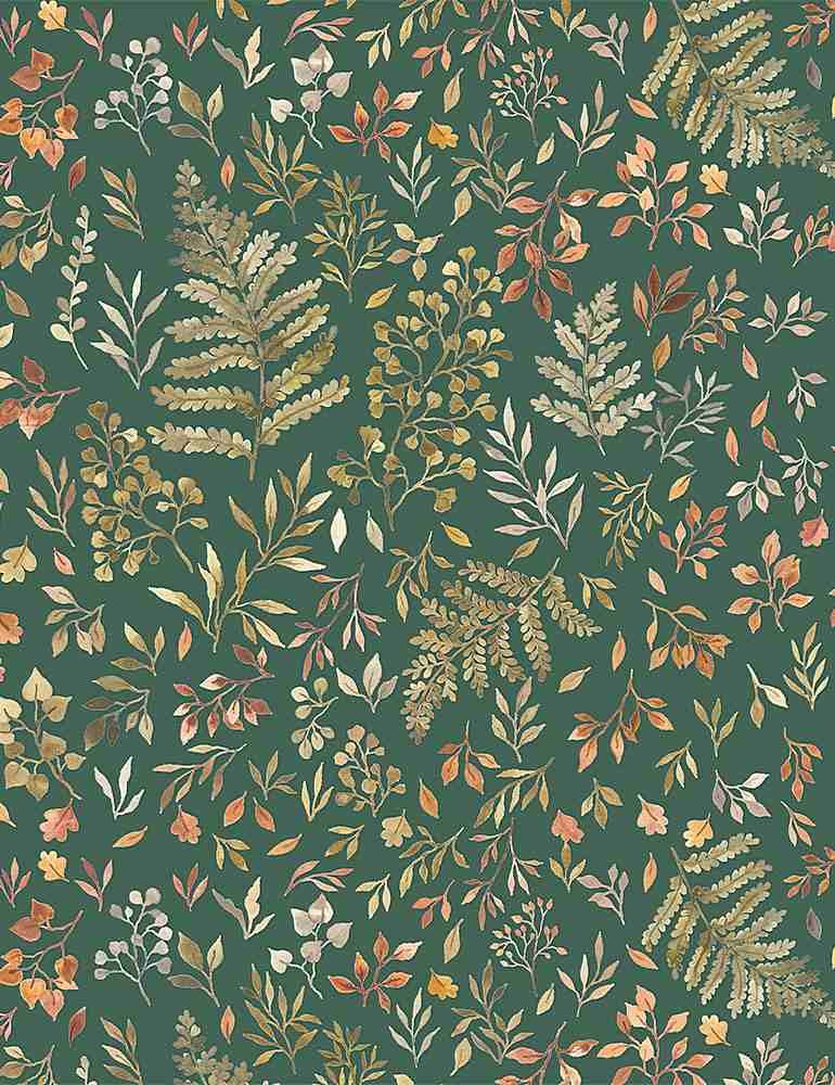 Little Fawn DP STELLA-DNS1906-WILLOW Autumn Ferns & Leaves