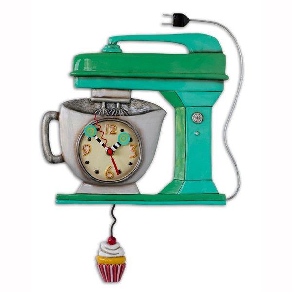 Clock - Vintage Mixer - Green