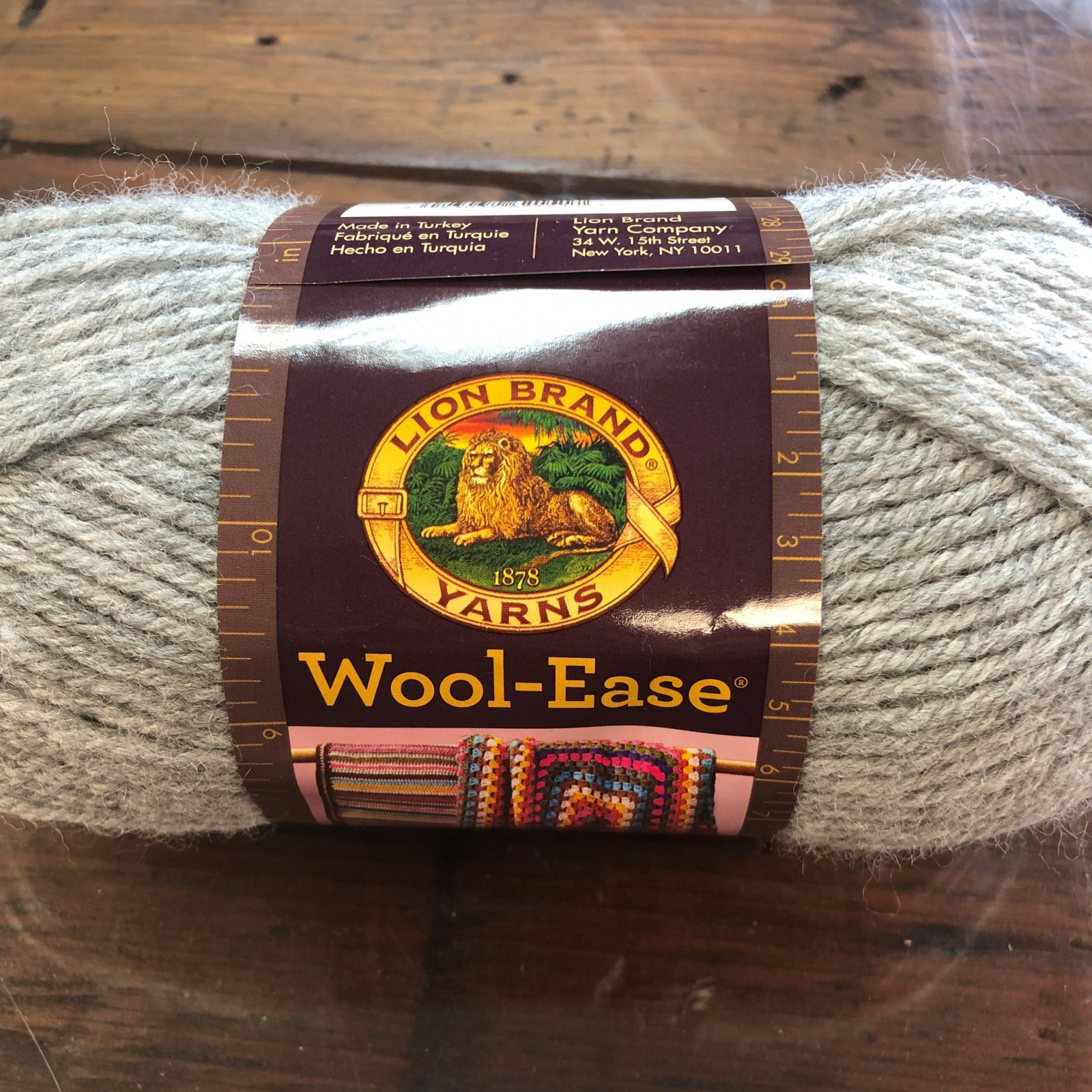 3oz Grey Heather Wool Ease