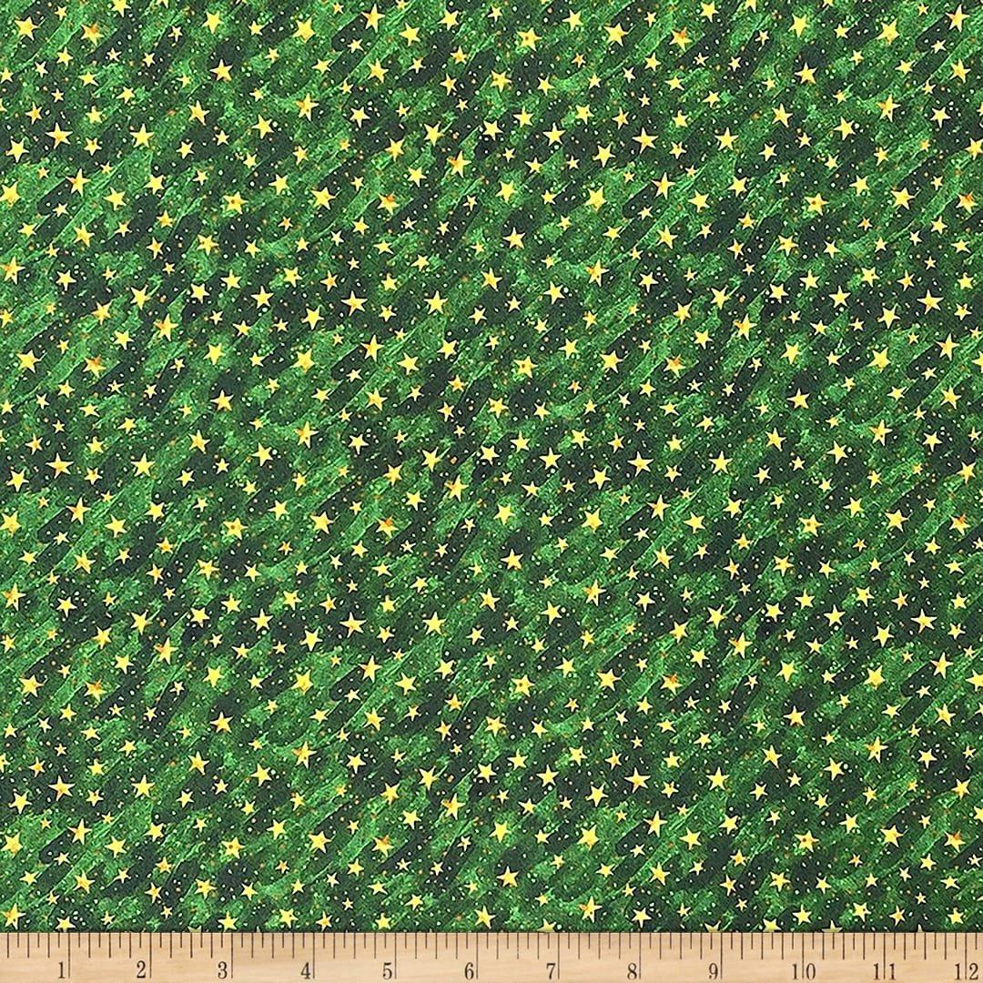 Noel Stars on Texture Green