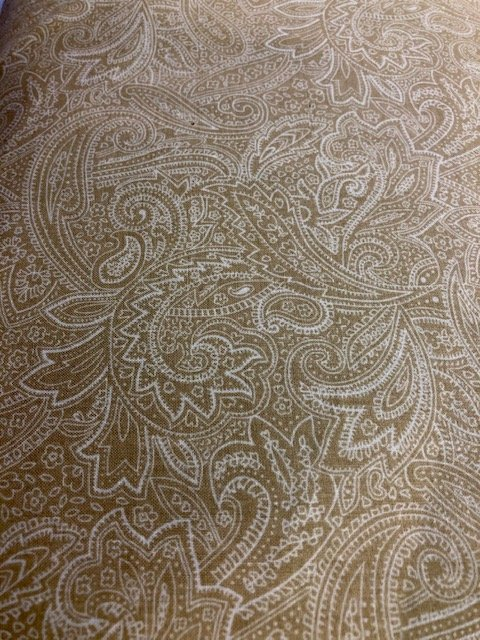 Wide Backing Caramel Paisley 108