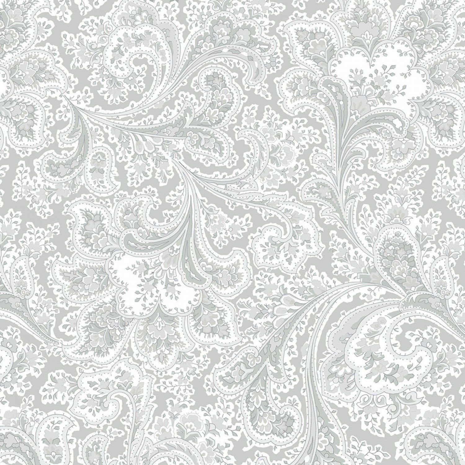 TAMMY 108 Quilt Backing - GREY PAISLEY