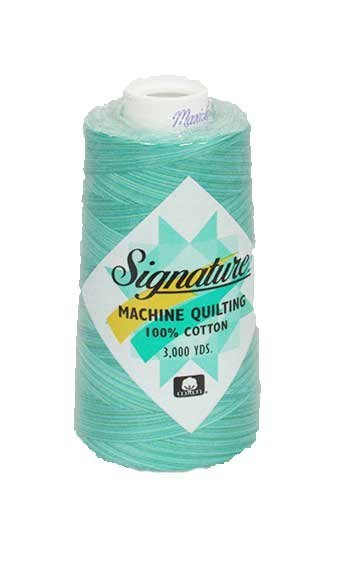 Signature Machine Quilting Cotton - Aqua Waters