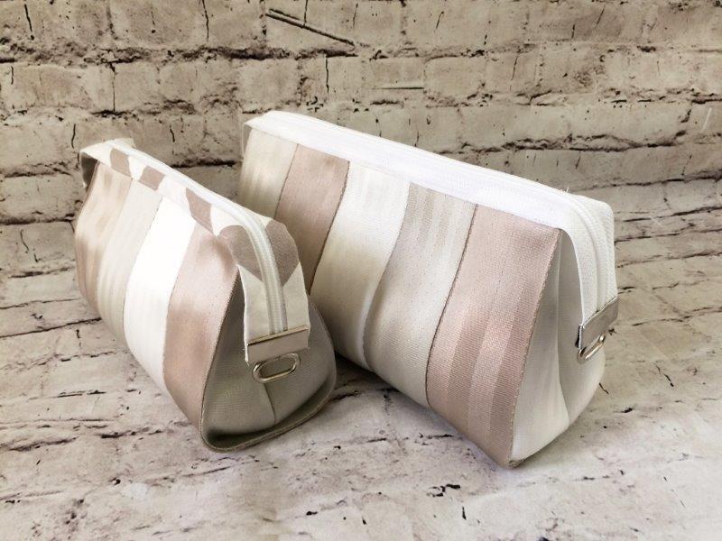 Cosmetic Bag Duo - Seat Belt Series