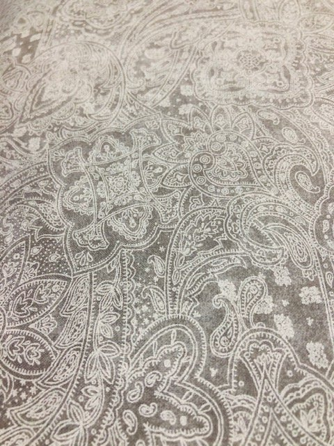 Wide Backing Grey Paisley 108
