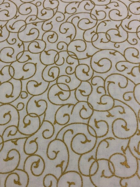Christmas Tradition Ivory/Gold Swirl