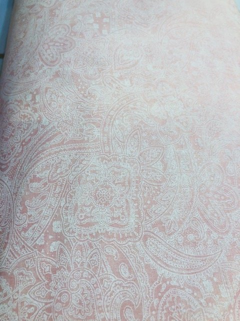 Wide Backing Pink Paisley 108