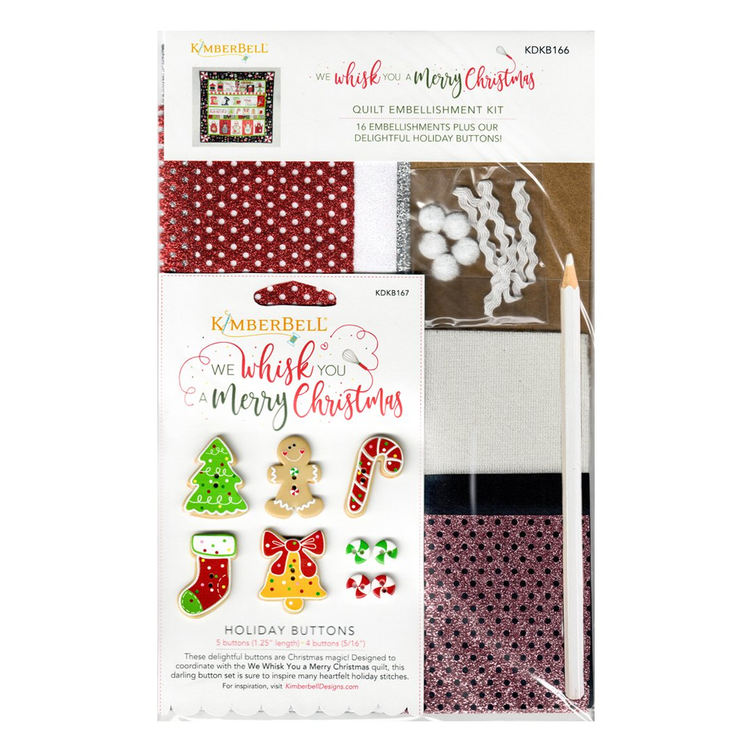 We Whisk you a Merry Christmas Holiday Quilt Embellishment Kit