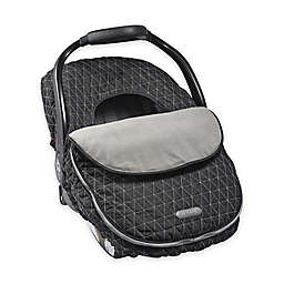 JJ Cole CAR SEAT COVER - BLACK TRIANGLE STITCH