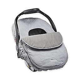 JJ Cole CAR SEAT COVER - GRAY HERRINGBONE STITCH