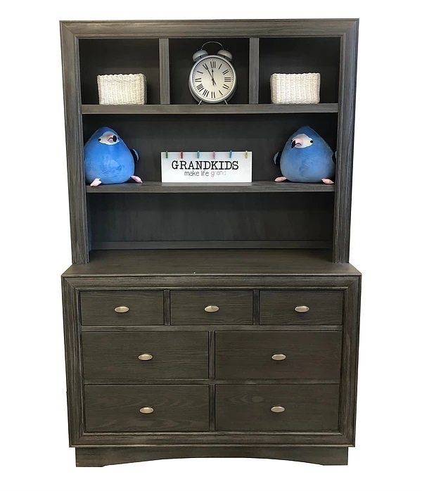 Preston Hutch - Granite (Dresser Sold Separately) (CURBSIDE PICK-UP ONLY)