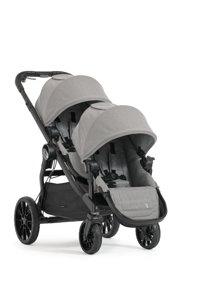 Baby Jogger City Select LUX Double Stroller w/Second Seat - Slate