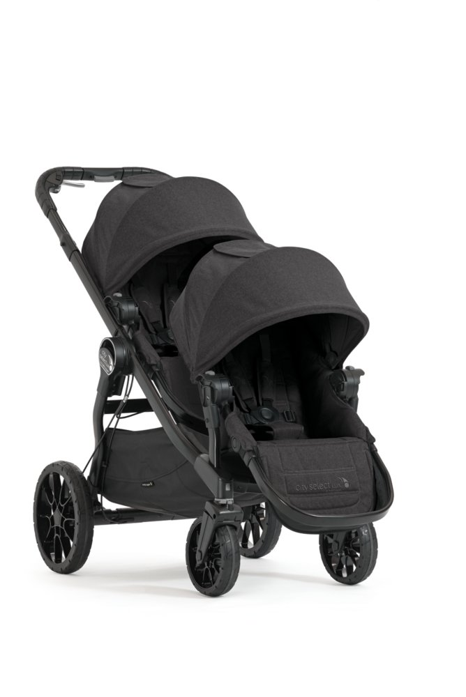 Baby Jogger City Select LUX Double Stroller w/ Second Seat Kit - Granite
