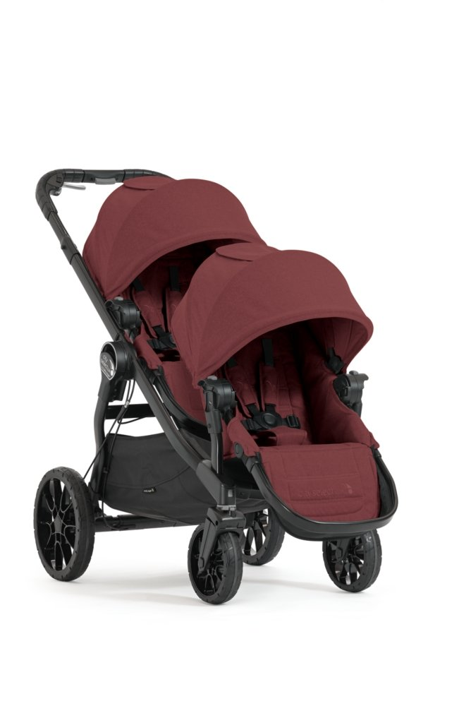 Baby Jogger City Select LUX Stroller with Second Seat Kit and Accessories Bundle - Port (Double Stroller)