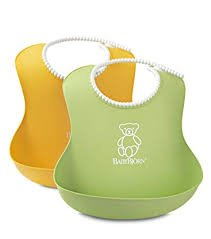 BABYBJORN Baby Bib  2-pack - Yellow/ Green
