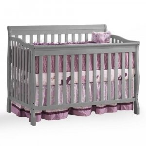 Kidiway Jessie 4-in-1 Convertible Baby Crib - Grey (CURBISDE PICK-UP ONLY)