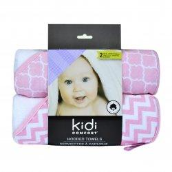 Kidicomfort 2 pack Hooded Towels - Pink
