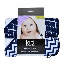 Kidicomfort 2 pack Hooded Towels - Navy