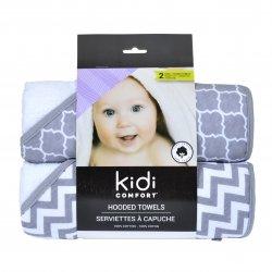 Kidicomfort 2 Pack Hooded Towels - Grey