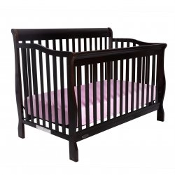 Kidiway Jessie 4-in-1 Convertible Baby Crib - Java (CURBISDE PICK-UP ONLY)