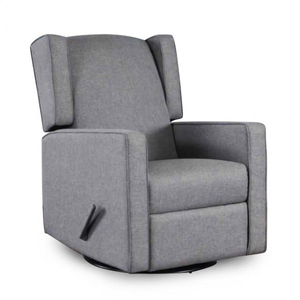 Kidiway Anna Fabric Glider/Recliner - Grey (CURBSIDE PICK-UP ONLY)