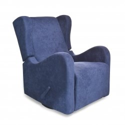 Kidiway Willy Fabric Glider/Recliner - Navy