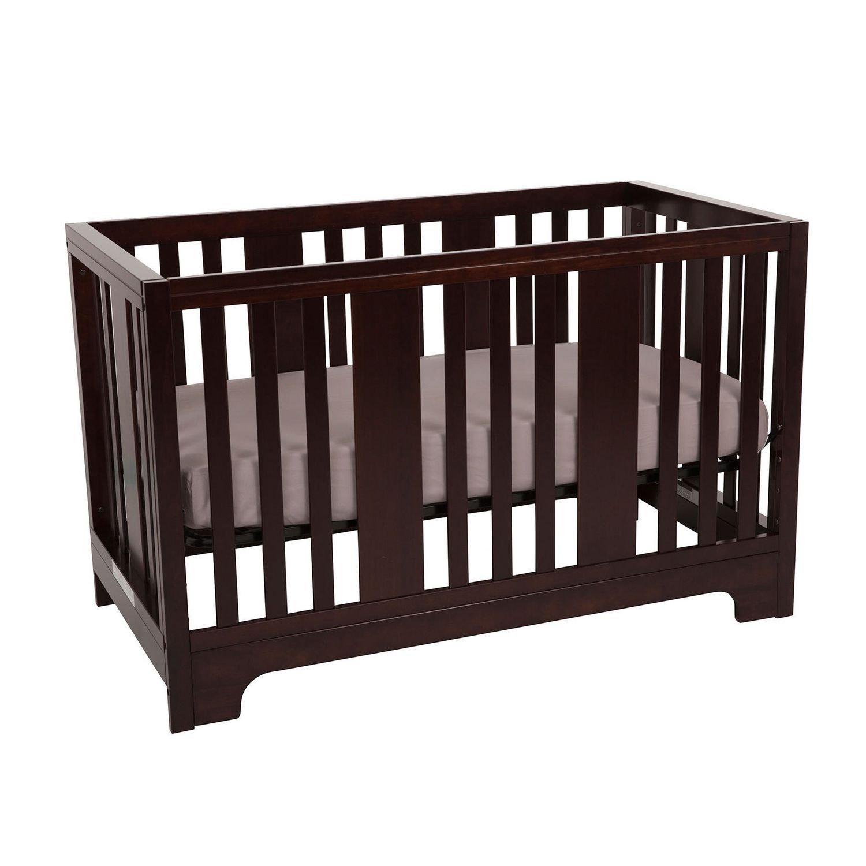 Kidiway Zeni 4-in-1 Convertible Baby Crib - Java (PICK-UP ONLY)