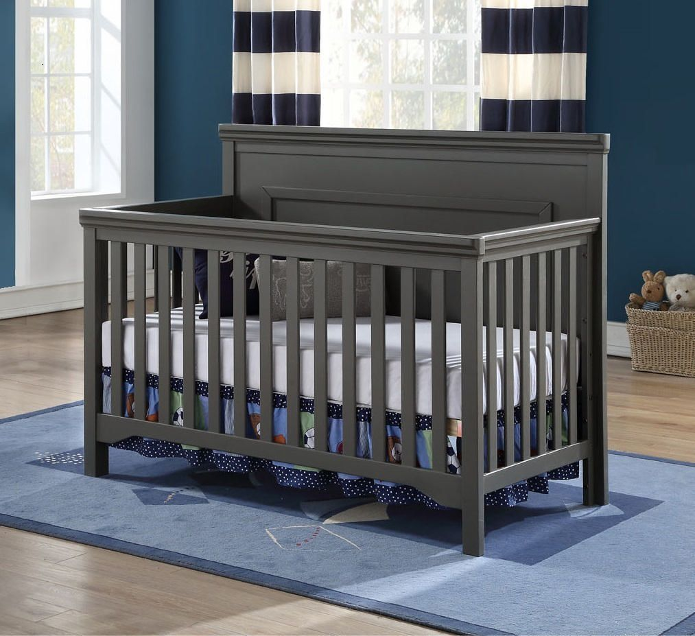 PEYTON Convertible Crib - GREY