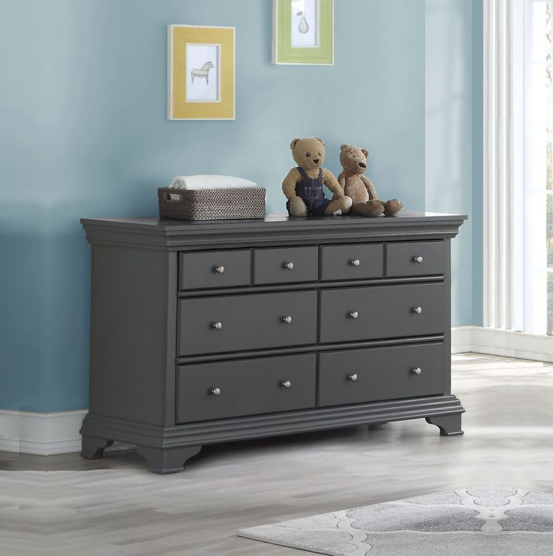 HAMPTON 6 Drawer Dresser - GREY