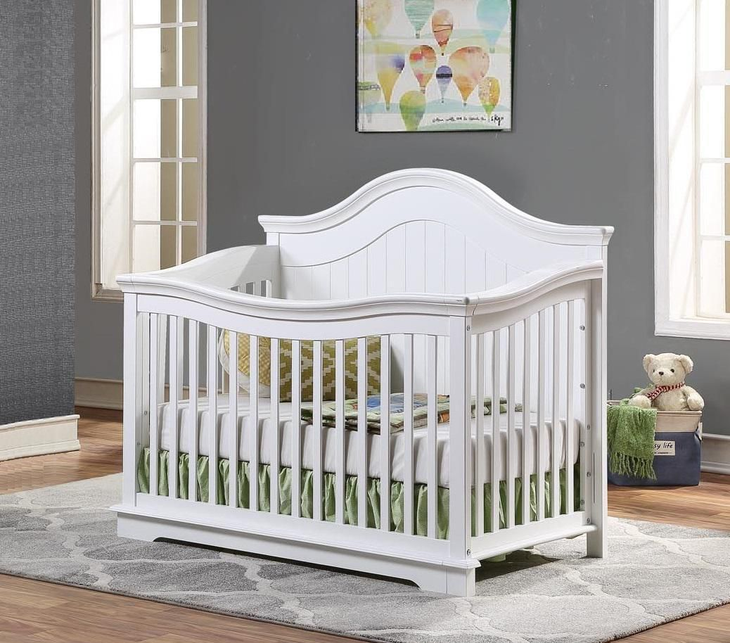 BROOKLYN Convertible Crib - WHITE