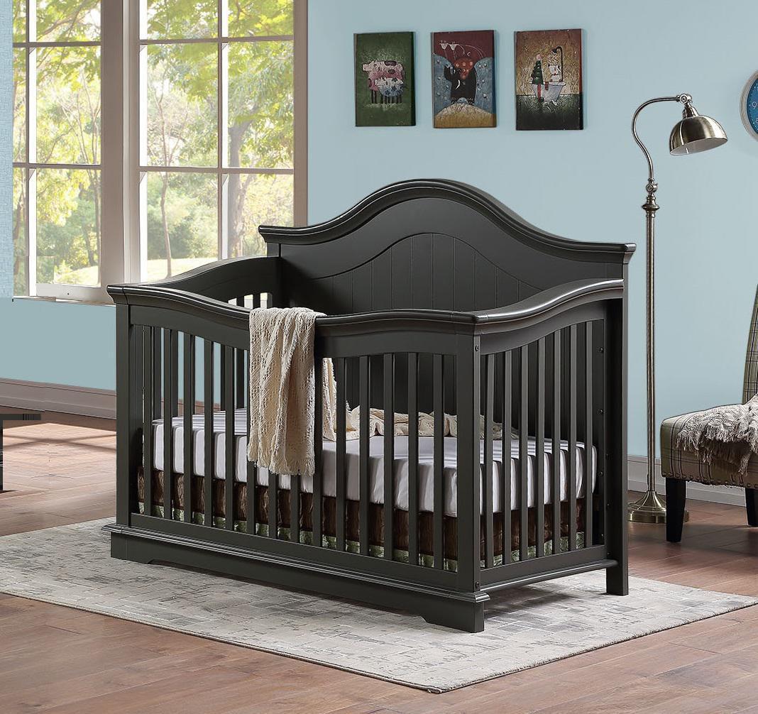 BROOKLYN Convertible Crib - GREY