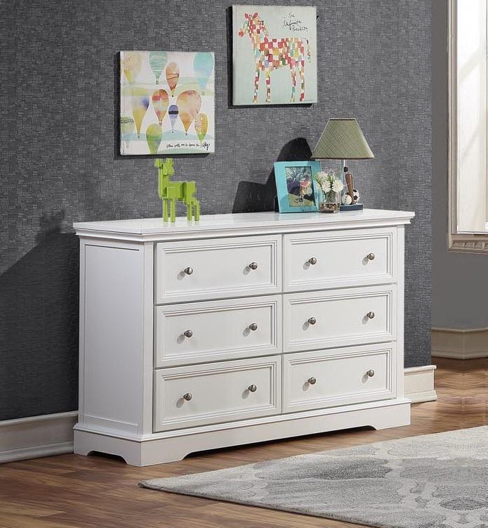 BROOKLYN 6 Drawer Dresser - WHITE