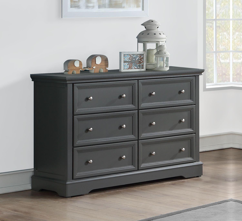 BROOKLYN 6 Drawer Dresser - GREY