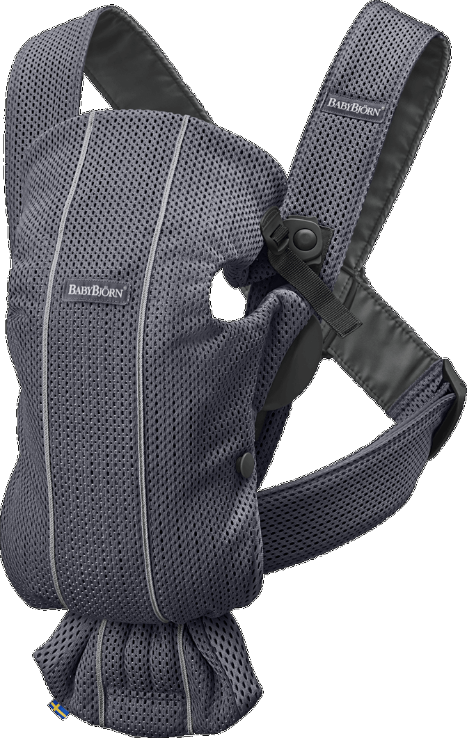 BABYBJORN Baby Carrier Mini, 3D Mesh - Anthracite (Slate Grey)