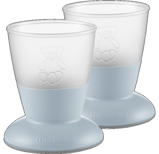 BABYBJORN Baby Cup 2-pack Powder Blue