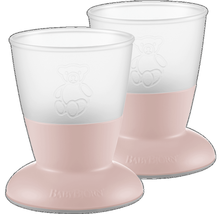 BABYBJORN Baby Cup 2-pack Powder Pink