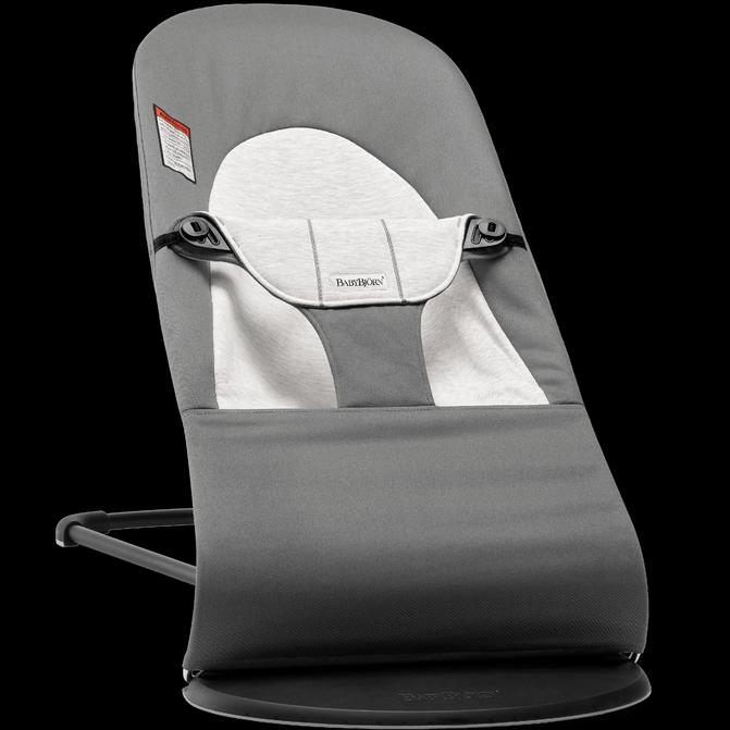 BABYBJORN Bouncer Balance Soft, Cotton/Jersey - Dark Grey/Grey