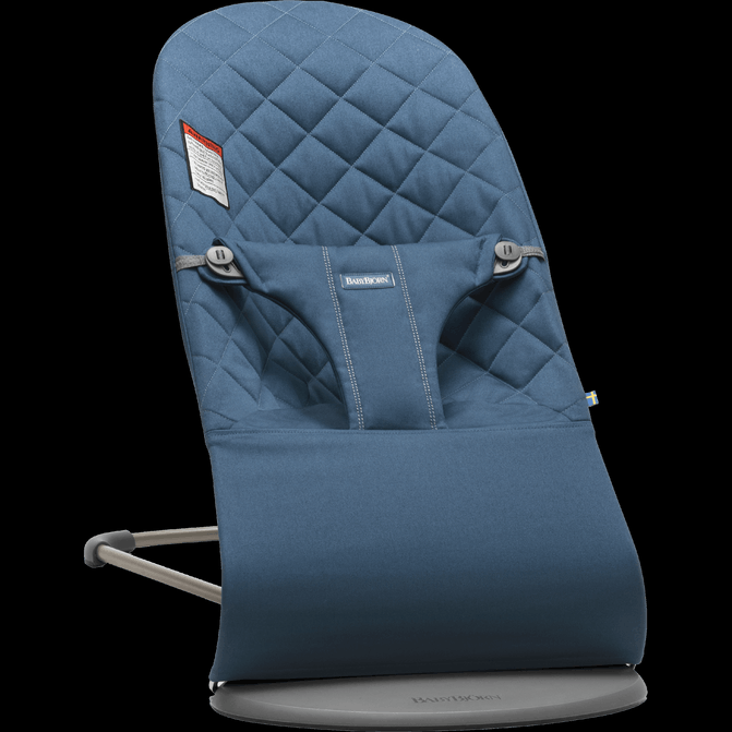 BABYBJORN  Bouncer Bliss, Quilted Cotton - Midnight Blue