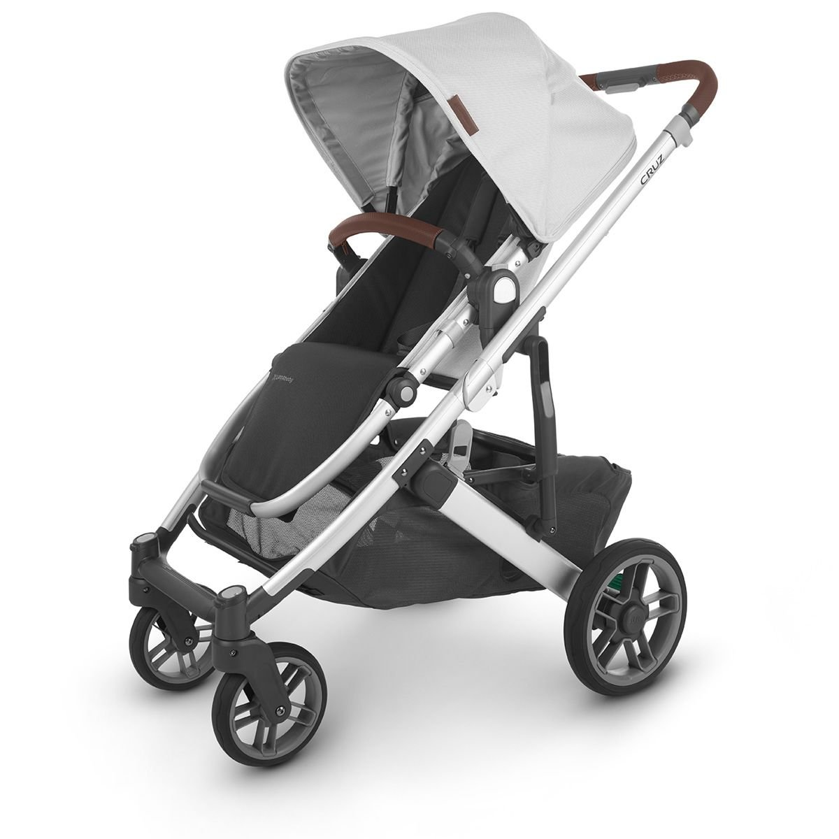 UPPABaby CRUZ V2 Stroller - BRYCE (White Marl/Silver/Saddle Leather)
