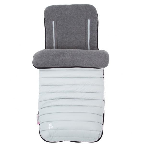 CuddleCo Comfi Snug 2-in-1 Pack Away Footmuff & Liner - Pewter