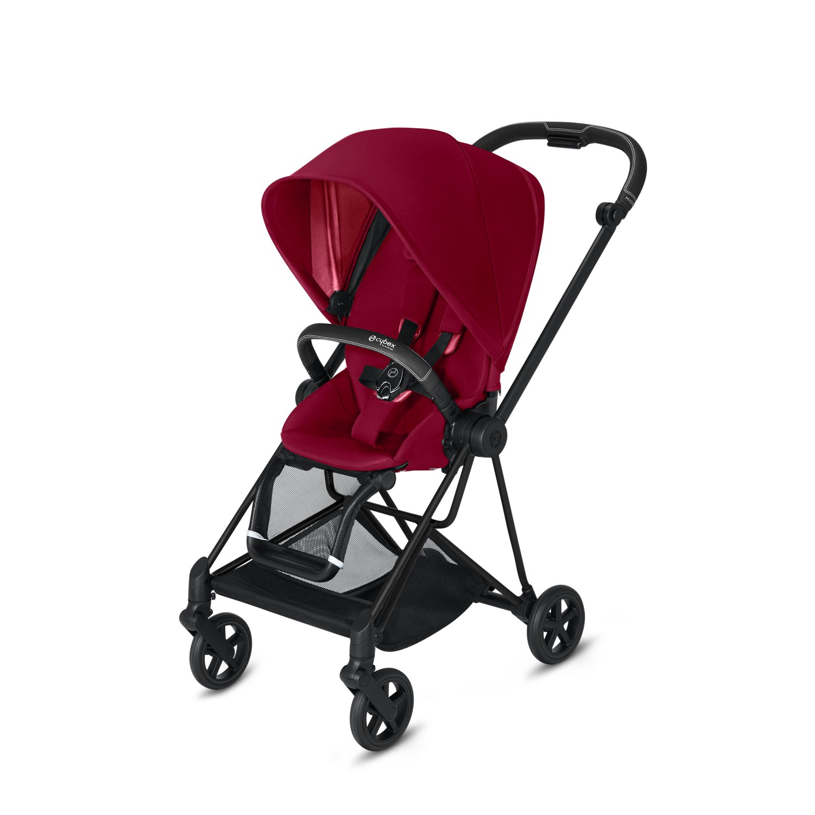 Cybex Mios Matte Black Frame with True Red Seat Pack